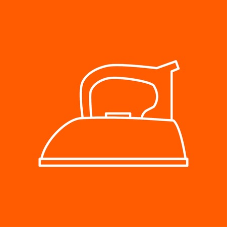 flatiron: outline tailor iron icon on color background