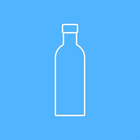 europe closeup: outline olive oil bottle template on color background