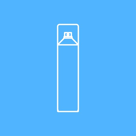 freshener: Vector outline air freshener aerosol bottle on color background Illustration