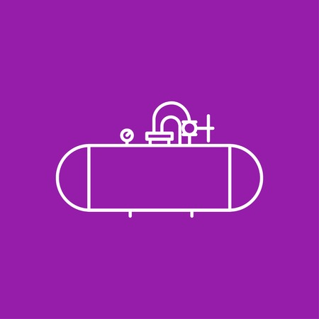 aljibe: Icono cisterna Vector silueta sobre fondo de color Vectores