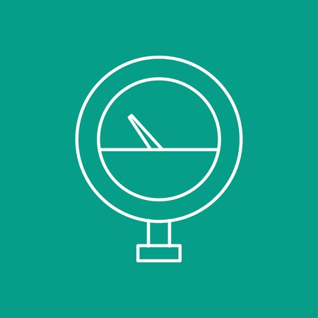 manometer: Vector outline manometer icon on color background Illustration