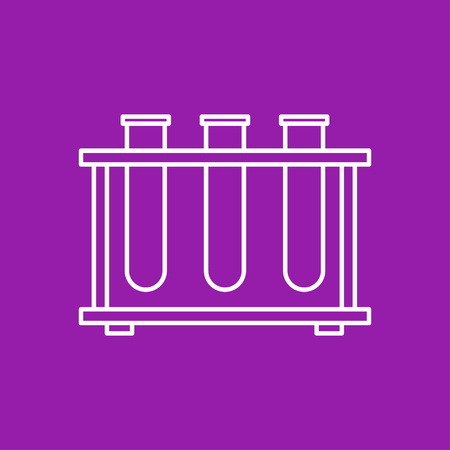 drug discovery: Vector outline test-tube icon on color background Illustration