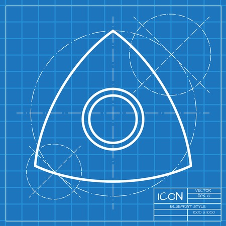 sartorial: Vector classic blueprint of tailor chalk icon on engineer and architect background