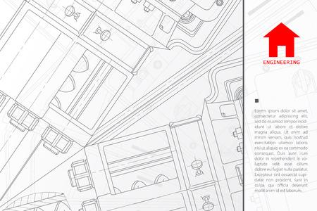 Vector blueprint tcnica de mecanismo ilustracin ingeniero fondo vector technical blueprint of mechanism engineer illustration architect background malvernweather Images