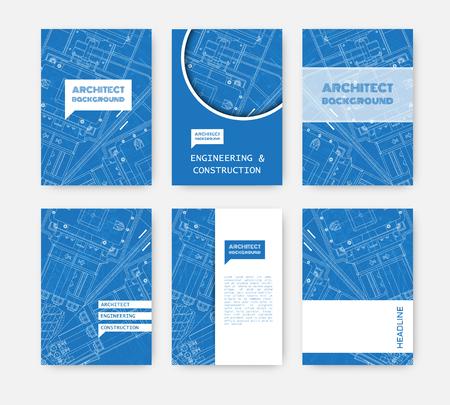 blueprint: Vector technical blueprint of  mechanism. Engineer illustration. Set of corporate identity templates. Vector illustration.   Illustration