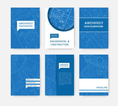 blueprint: Vector technical blueprint of  mechanism. Engineer illustration. Set of corporate identity templates. Vector illustration.