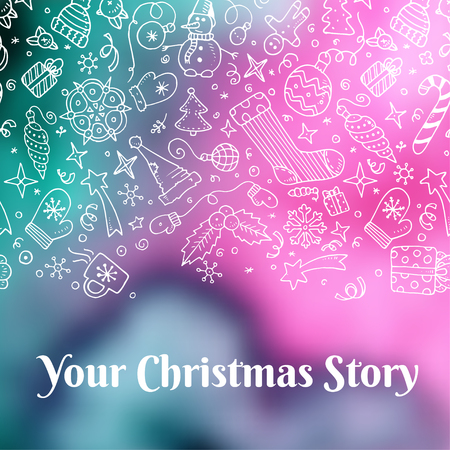 font design: Vector holiday blur background with typographic elements Illustration