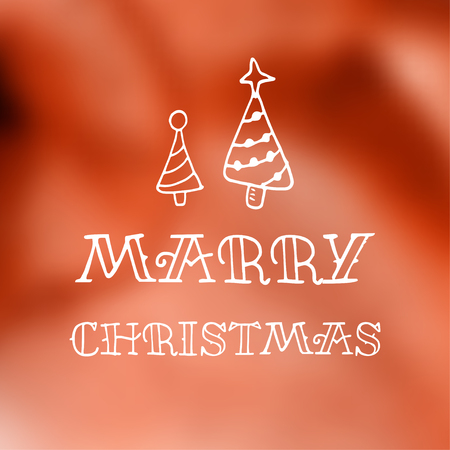 typographic: Vector holiday blur background with typographic elements Illustration