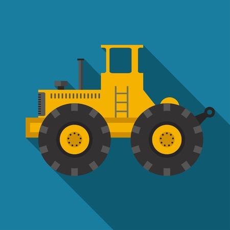 land development: color flat heavy machine icon