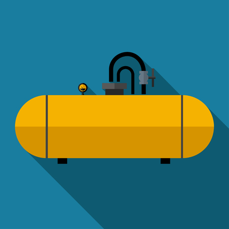 cistern: color flat cistern icon Industrial Illustration