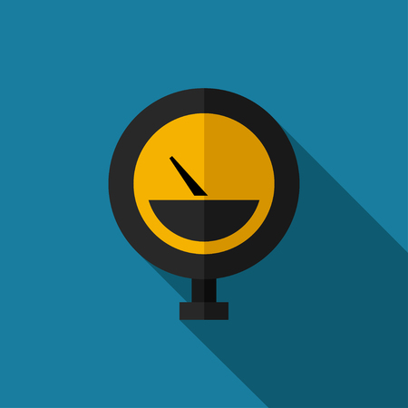 manometer: color flat manometer icon. Industrial Illustration