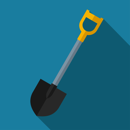 tools icon: color flat shovel icon. Industrial equipment