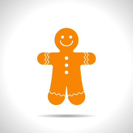 Vector christmas icon. New year illustration. Gingerbread Cookie Illustration