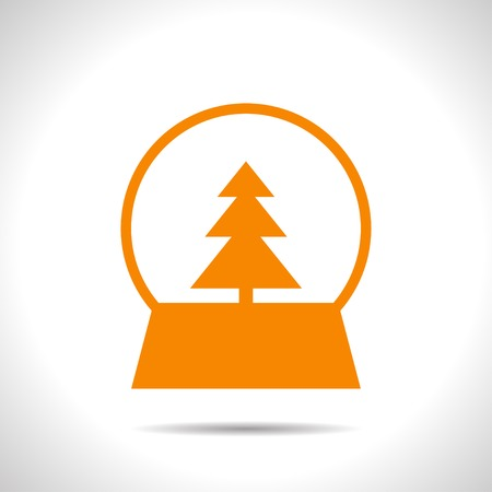 christmas icon: Vector christmas icon. New year illustration.  Snow globe