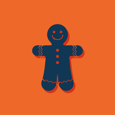 hoody: Vector christmas icon. New year illustration. Gingerbread Cookie Illustration