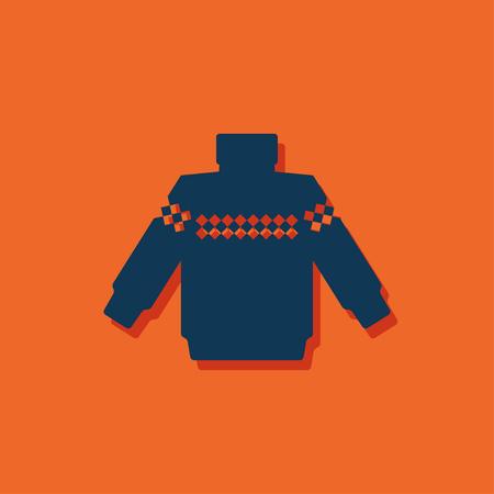 Vector christmas icon. New year illustration. Pullover Illustration