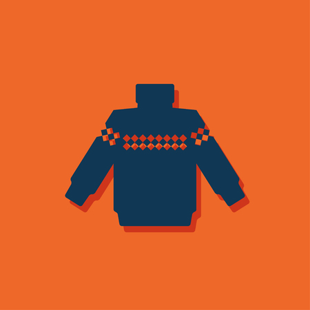 coatee: Vector christmas icon. New year illustration. Pullover Illustration