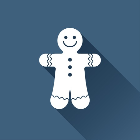 coatee: Vector christmas icon. New year illustration. Gingerbread Cookie Illustration