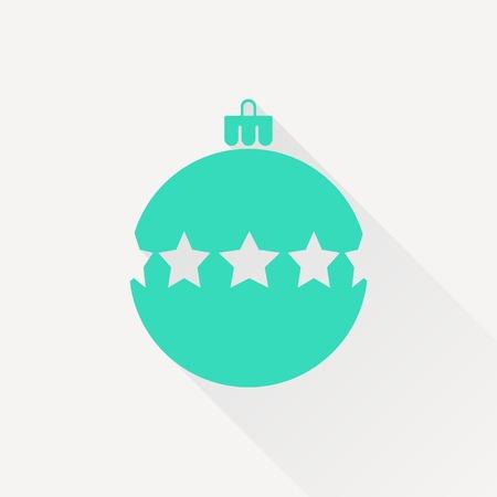 Vector christmas icon. New year illustration.  Christmas tree Illustration