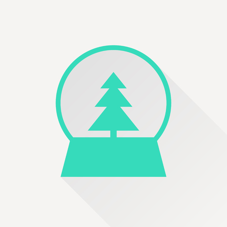 Vector christmas icon. New year illustration.  Snow globe