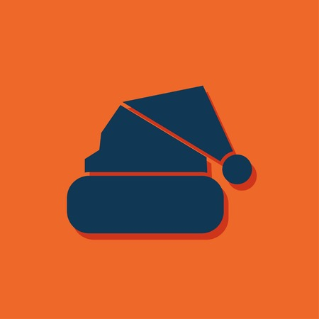ski wear: Vector christmas icon. New year illustration. Winter hat