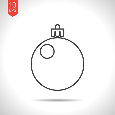 jubilant: Vector christmas icon. New year illustration.  Christmas tree Illustration