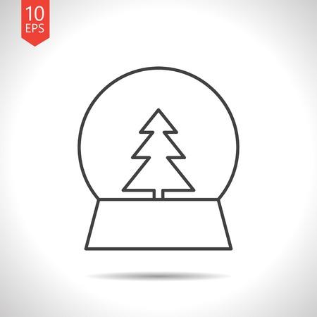 sphere base: Vector christmas icon. New year illustration.  Snow globe