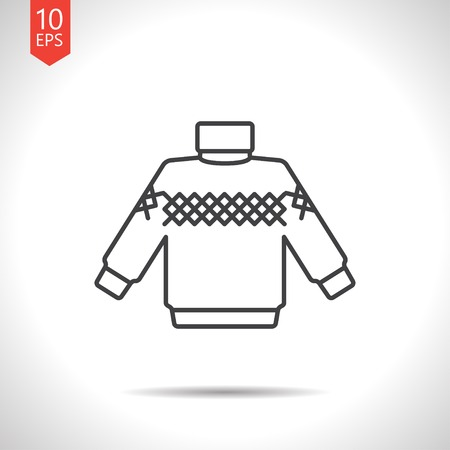 coatee: Vector christmas icon. New year illustration. Pullover Illustration