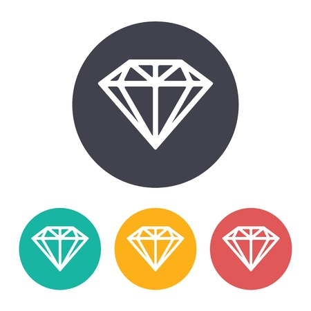 spoil: Vector flat diamond icon with set of 3 colors