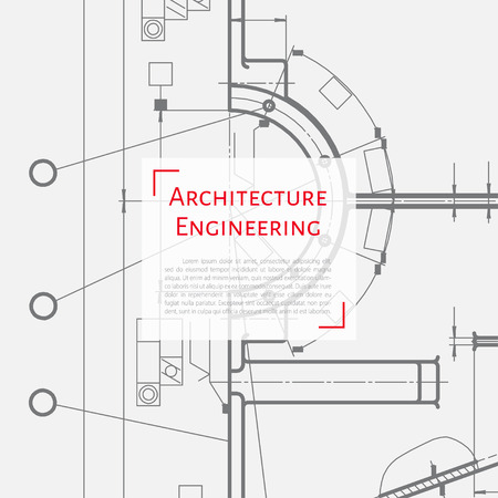 concentration gear: Vector technical blueprint of mechanism. Engineer illustration. Set of corporate identity templates. Architecture Background