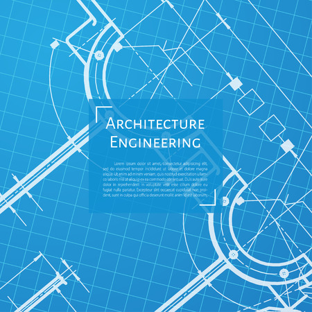 technical background: Vector technical blueprint of mechanism. Engineer illustration. Set of corporate identity templates. Architecture Background
