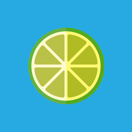 zest: Vector flat lemon icon. Fresh food illustration