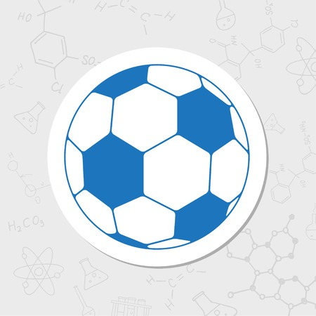 Vector flat sticker football icon on white background