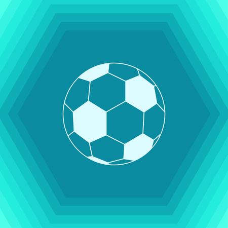 Vector flat football icon on hexagonal background Illustration