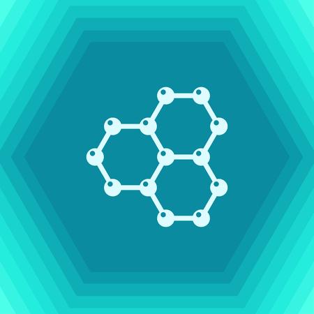 transistor: Vector flat graphene icon on hexagonal background . Science illustration