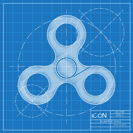 Hand spinner icon
