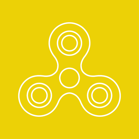 Vector simple hand spinner icon. Business illustration. Bearing