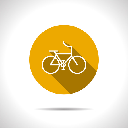 Sport bicycle illustration. Healthy activities vector icon