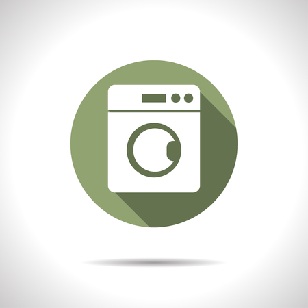 washing machine illustration. Laundry flat vector icon 일러스트