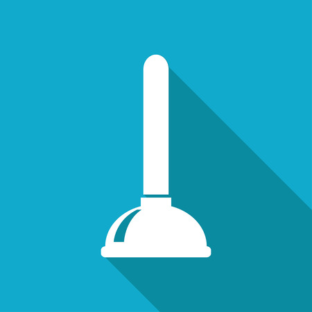 Toilet plunger illustration. Plumber vector icon