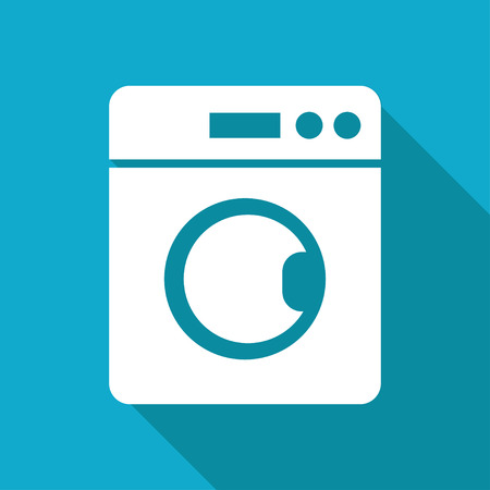 washing machine illustration. Laundry vector icon