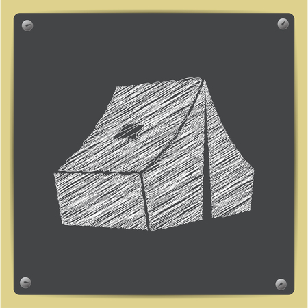 Camp tent isometric illustration. Adventures vector flat icon Stock Illustratie