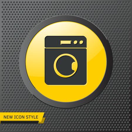 washing machine illustration. Laundry flat vector icon Ilustrace