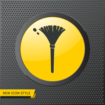 simple feather duster illustration. Cleaning vector icon Standard-Bild - 123721395