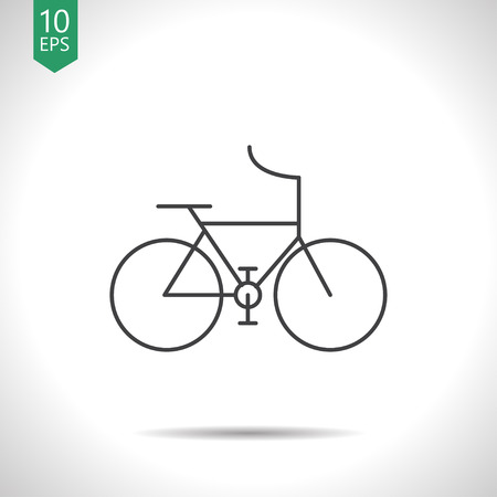 Sport bicycle illustration. Healthy activities simple vector icon