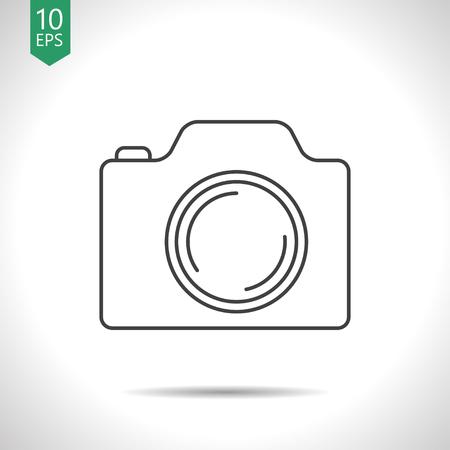 photo camera illustration. Taking picture vector icon