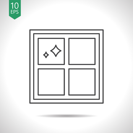 Floor or wall tiles illustration. Clean household vector icon Иллюстрация