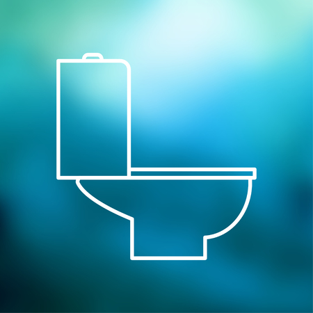 toilet bowl illustration. Restroom vector icon