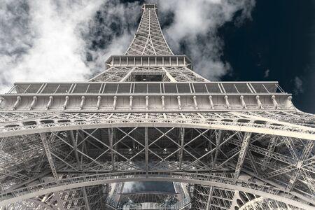 Hermosa foto de la Torre Eiffel, París, Francia Foto de archivo