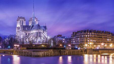 View of Notre Dame, Paris, France